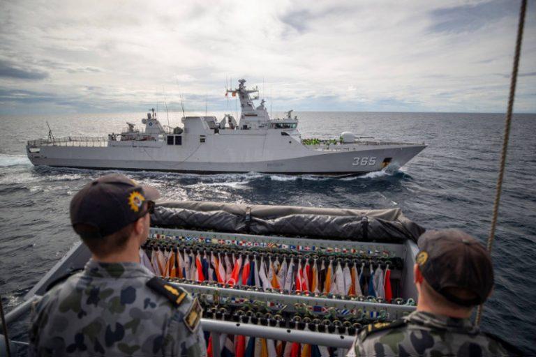 Indonesian Frigate Flag Deck sailors aboard Anzac III