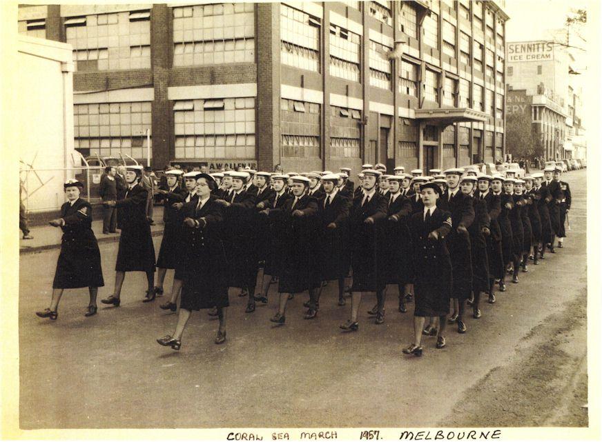 Coral Sea March2 Melb 1957