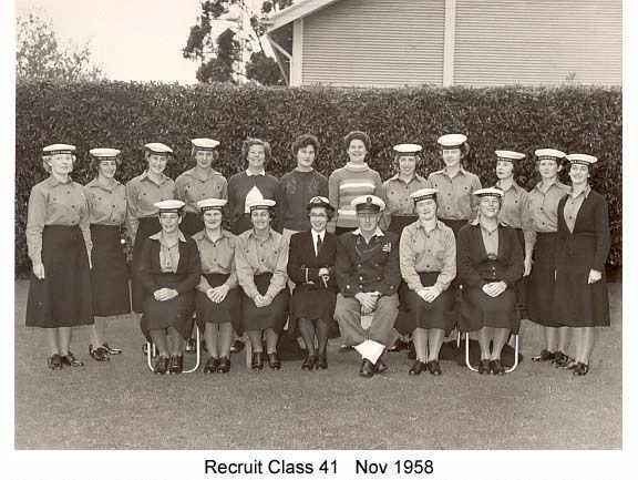 WRANS Recruit Class 41 Nov 1958